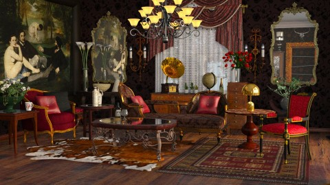 Americana West - Classic - Living room  - by anchajaya