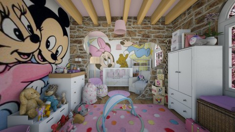 Minnie Mouse Room - Kids room - by AlexDi