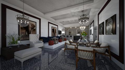 Cafe_Classic_Etnick_Interior - Classic - Living room  - by Nikos Tsokos
