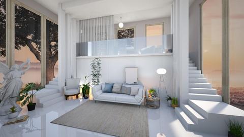 Calm Modern Living Room - Modern - Living room  - by Dragonets of Destiny