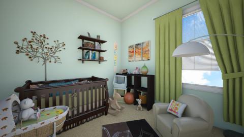 Green Baby Girl Nurserie - Modern - Bedroom - by Vangjel