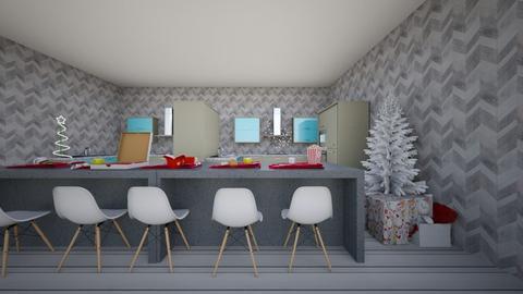Midcentury modern kitchen - Kitchen  - by Sophia_