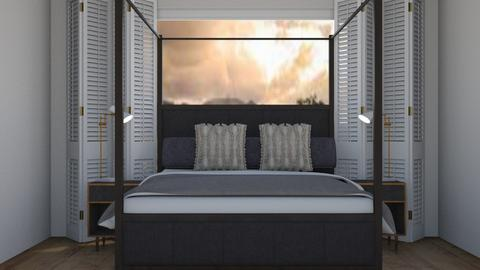 grey bedroom - Bedroom  - by OferneH
