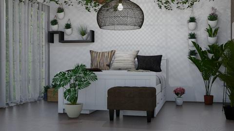 plant room - Bedroom  - by skateboredgirl