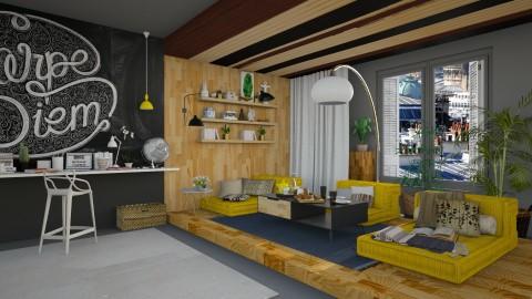 Wood And Black - Modern - Living room  - by katarina_petakovi