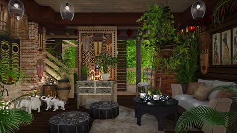 Jungle living room - Eclectic - Living room  - by Ida Dzanovic