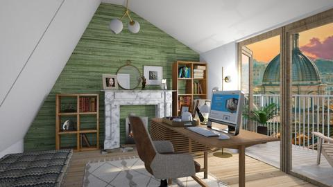 Sloped office - Eclectic - Office  - by augustmoon