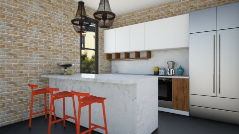 Marbleorange Kitchen - Modern - Kitchen  - by 3rdfloor