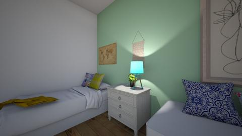 cuarto - Rustic - Bedroom  - by Federica quiroga
