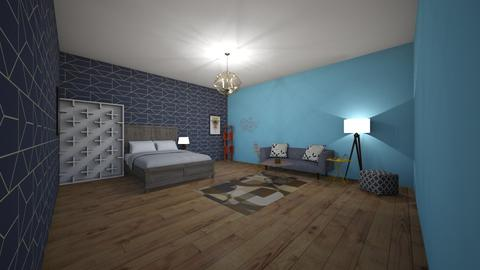 geo bedroom - Rustic - Bedroom  - by brooklyn128