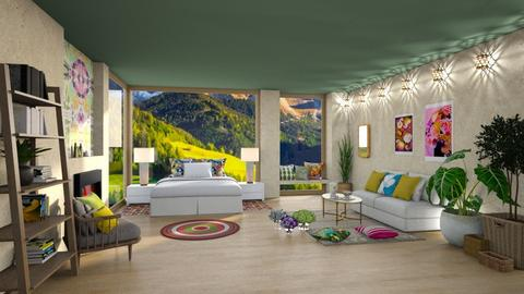 In a mountain day - Bedroom  - by Ferplace