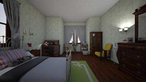 vintage bedroom - Bedroom  - by PeculiarLeah