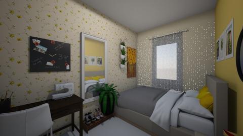 Mustard Yellow Teen's Bedroom - Minimal - Bedroom - by gerlietabel