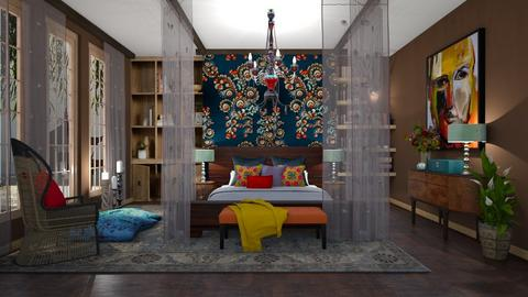 Indian Color Palette  - Classic - Bedroom  - by janip