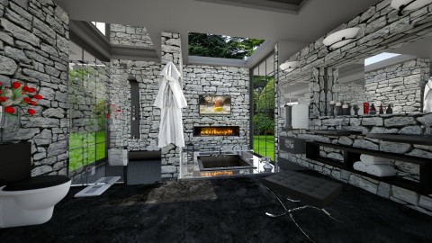 el Grotto - Modern - Bathroom  - by Lackew