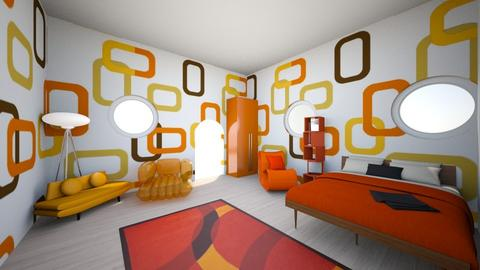 Green Living Room - Retro - Living room - by lilith45