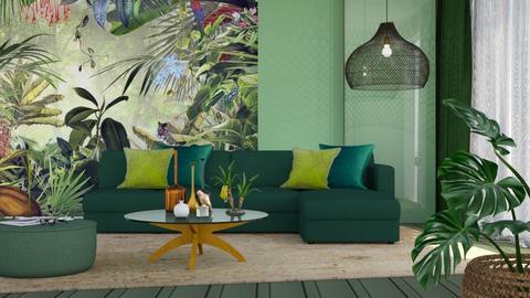 M_ Jungle mural - Living room  - by milyca8