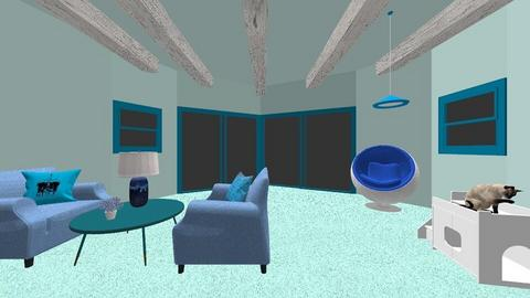 Blue Room - Classic - Living room  - by sisters marin