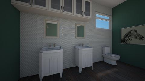 Evergreen bathroom - Retro - Bathroom  - by CoolCatEm