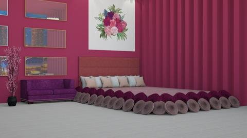 pink and purple bedroom - by Swig