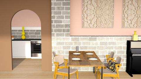 Pink n Yellow - Dining room  - by designkitty31