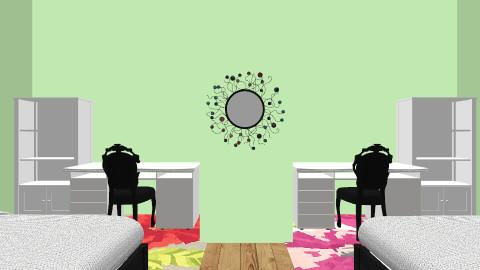 Twin girl room - Feminine - Bedroom - by beautifulife