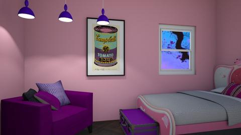 PinkPurple - Bedroom  - by bleeding star