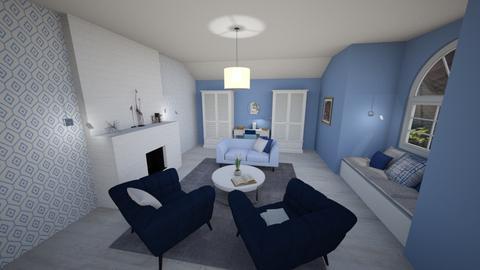 Blue Reading Room - Minimal - Living room  - by pfeilswdm