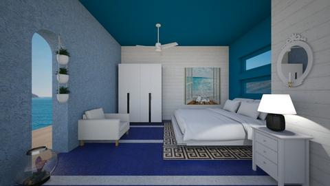 Modern Greek bedroom - Bedroom  - by Tupiniquim