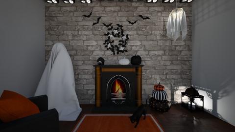 Halloween Mantle - Living room  - by jen_mcgill21