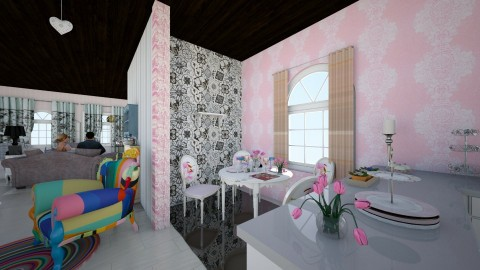 lIVING rOOM - Glamour - Living room  - by fruzelina