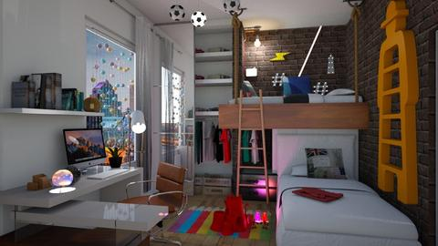 RodriBernar quarto - Kids room  - by soralobo