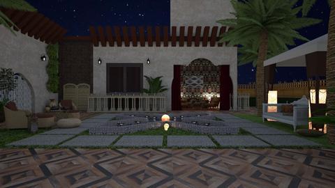 Riad - Garden  - by nat mi