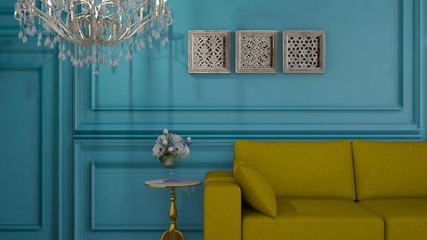 Blue n yellow - Living room  - by FANGIRLdesigner