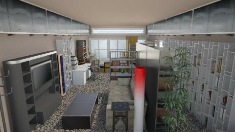 a house - Living room - by burgerbunnacho