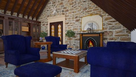 Castle - Living room  - by Laurika