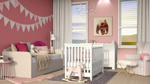 baby pink room  - Kids room  - by aya abo elfetouh