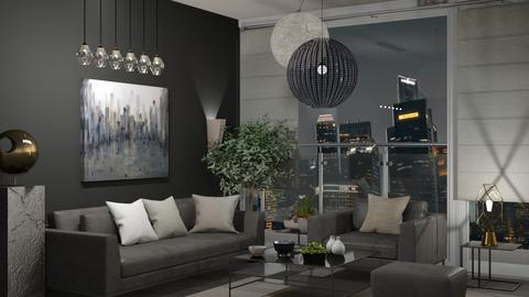 City view 2 - Living room  - by Snowbell