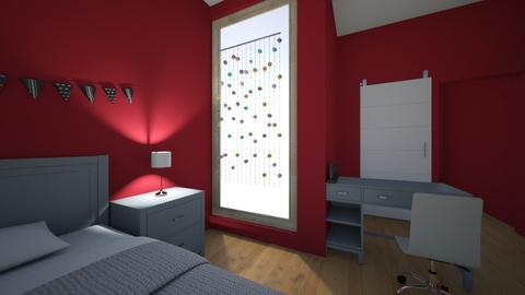 Cheryl Blossom Red - Modern - Bedroom - by stella2