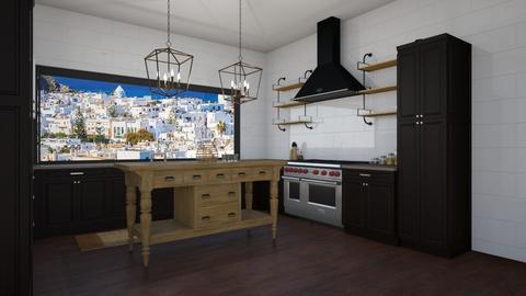 modern farm - Modern - Kitchen  - by seeeeeesiiiiiiii