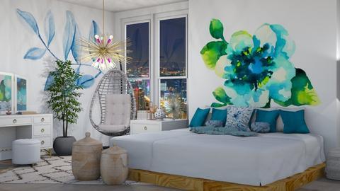 Blue - Bedroom  - by Drama Llama
