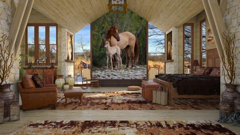 Design 427 Salt River Horses - Bedroom - by Daisy320