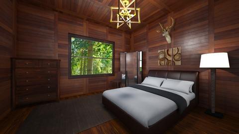 log cabin bedroom - Bedroom  - by 0955506