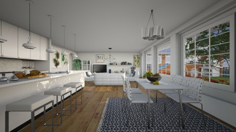 White Living - Modern - Living room  - by Joao M Palla