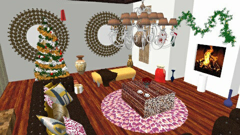 Christmas warmness - Rustic - Living room  - by Muzzibaby