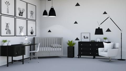 Black and White Baby room - Modern - Kids room  - by Aristar_bucks