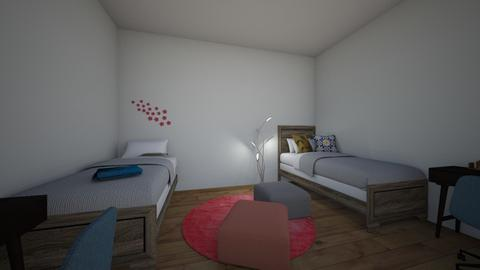 College Dorm - Bedroom - by lilliannewby