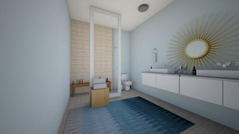 blue bathroom - Minimal - Bathroom  - by LaurenLakin