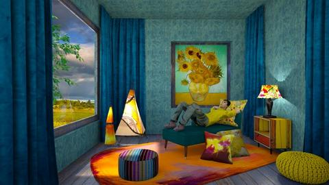 Van Gogh  corner - Living room  - by chania
