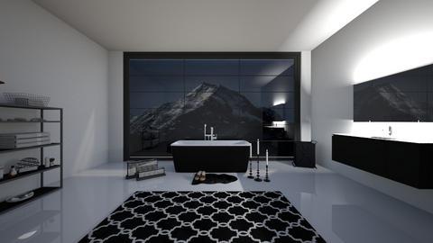 Black And White Bathroom - Bathroom  - by cagla_deniz_